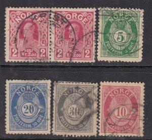NORWAY^^^^^# 62//73  x6 used  CLASSICS  $$@ ha 2028nor