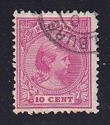 Netherlands   #43  used  1894    Wilhelmina   10c