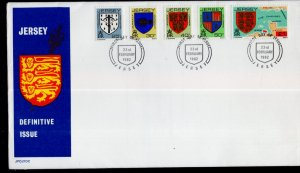 Jersey 263-267 Coat of Arms U/A FDC