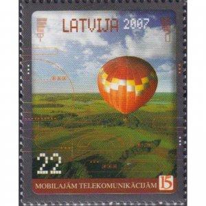 Latvia 2007 The 15th Anniversary of Mobile Communication  (MNH)  - Communication