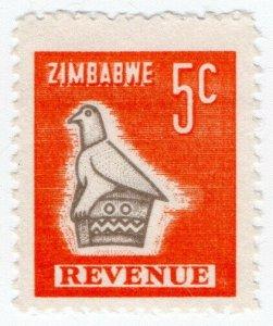 (I.B) Zimbabwe Revenue : Duty Stamp 5c
