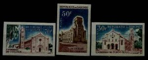 Dahomey 212-14 MNH imperf.Cathedrals