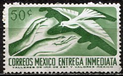 Mexico; 1964: Sc. # E20; O/Used Single Stamp