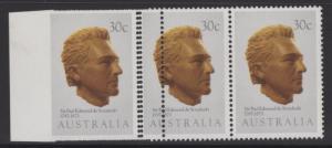 AUSTRALIA SG898var 1983 EXPLORERS 30c IMPERF BETWEEN STAMP & MARGIN(5 KNOWN) MNH