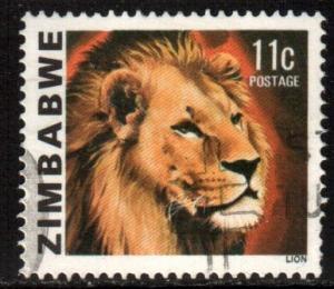 Zimb*bwe Scott 420, 1980 Lion 11c used
