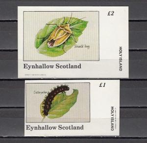 Eynhallow, 1982 issue. Insects on 2 s/sheets. E3