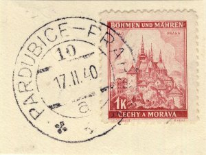 BÖHMEN u. MAHREN - 1940  PARDUBICE - PRAHA * * *  TPO n°10a CDS on Mi.28