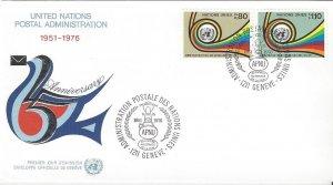 United Nations Geneva 61-2  FDC  MI4 Geneva Cachet