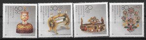 1988 Germany B670-673 Gold and Silver Artifacts MNH C/S of 4