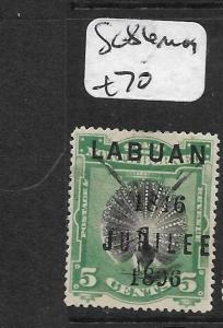 LABUAN (P0204B)  JUBILEE 5C  SG 86   MOG