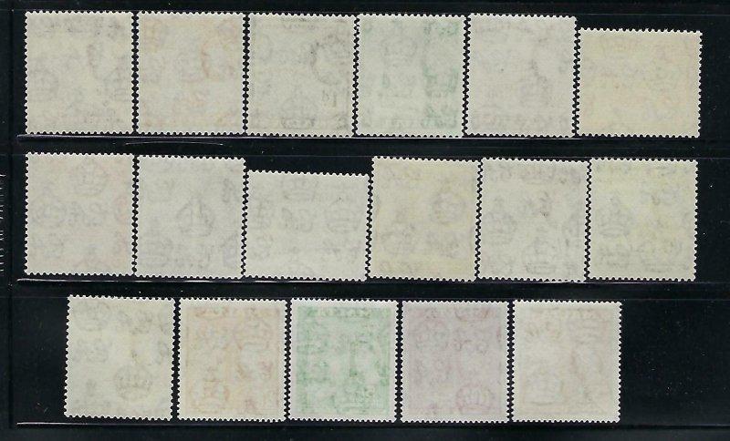 MALTA SCOTT #246-262 1956-57 QEII PICTORIALS  - MINT NEVER  HINGED