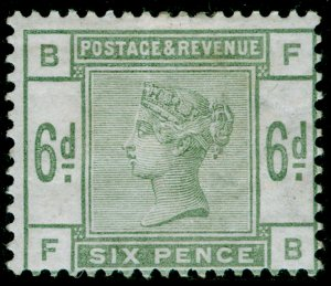 SG194, 6d dull green, M MINT. Cat £625. FB