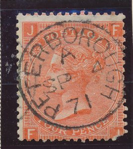 Great Britain Stamp Scott #43, Used, Town/Date Cancel - Free U.S. Shipping, F...