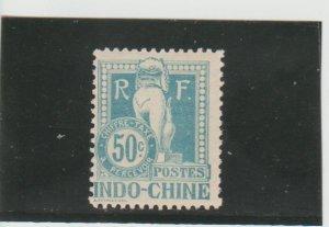 Indo-China  Scott#  J13  MH  (1908 Postage Due)