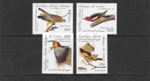 BIRDS - COMORO ISLANDS #C139-142