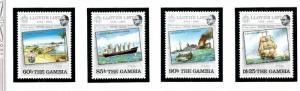 Gambia 519-22 MNH 1984 Lloyds List