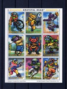Mongolia 1998 Grateful Dead-Sports Shlt(9) MNH Sc# 2330