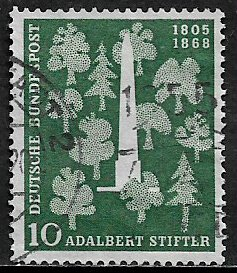 Germany #735 Used Stamp - Stifter Monument and Trees