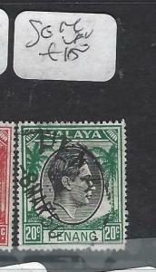 MALAYA PENANG  (P0704BB)  KGVI   20 C   SG 14  VFU