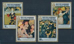 [95514] Aden Qu'aiti State Hadhramaut 1967 Paintings Renoir Clown Umbrella  MNH
