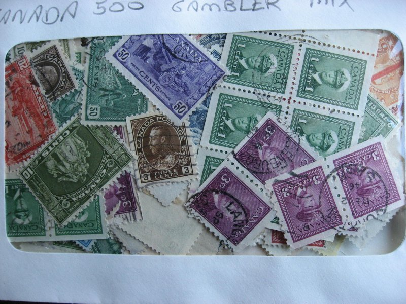 Canada gambler mixture (duplication, mixed condition) 1,000 1900s to 1940s