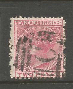 NEW ZEALAND  1874-78  2d  ROSE QV  FSF  FU  P12 1/2 STAR WMK   SG 179