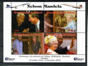 Chad 2013 Mandela Prince Charles & Princess Diana Sheet Perforated mnh.vf