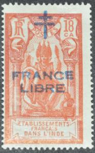 DYNAMITE Stamps: French India Scott #162 – MINT hr