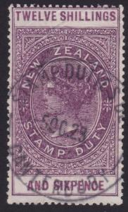 NEW ZEALAND 1880 Stamp Duty 12/6d fine used...............................6322
