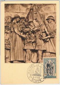57393 -  ALGERIA - POSTAL HISTORY: MAXIMUM CARD 1955 - ARCHITECTURE Art
