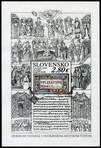 HERRICKSTAMP NEW ISSUES SLOVAKIA Sc.# 791 Slavic Liturgical Language S/S