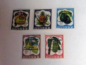 Guinea - 209-13, MNH. Ovpt. UN Anniversary. SCV - $2.65