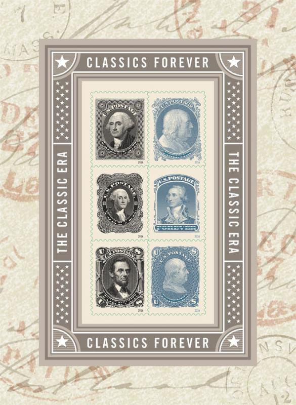 2016 47c Classics Forever, Souvenir Sheet of 6 Scott 5079a-5079f Mint F/VF NH