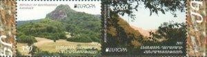 EUROPA CEPT KARABAKH ARMENIA 2011 SET OF 2 FORESTS MNH R2021230