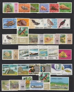 Samoa a page of mainly MNH with higher values