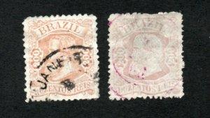 Brazil - Sc# 84 & 85 Used    -      Lot 0920064