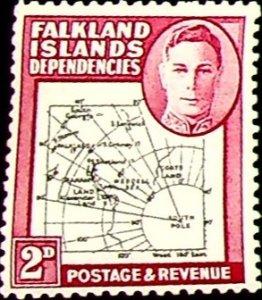 Falkland Islands, Dependencies 1946 2p SG G3 ** MNH KGVI (002821)