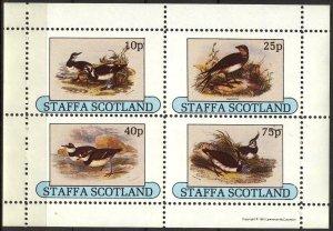 {ST342} Staffa Scotland Birds (22) Sh.4 MNH Local Cinderella !!