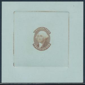 #69-E2e DIE I ESSAY ON COLORED CARD (BROWN, LIGHT BLUE) BU352