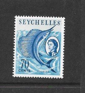 FISH - SEYCHELLES #206  SAILFISH   MNH
