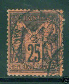 FRANCE Scott 93, Used stamp GREAT Color 1878 CV $20.00