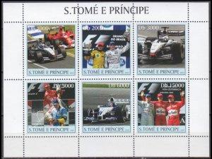 2003 Sao Tome and Principe 2265-70KL Cars / Formula 1 Car Racing and driver 11,0
