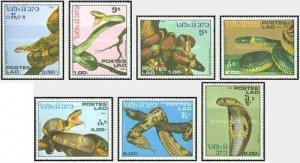 Laos MNH 722-8 Snakes Reptiles SCV 4.75