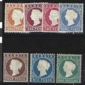 Gambia 1880 SC 5-11 MLH/NH SCV $975 Set