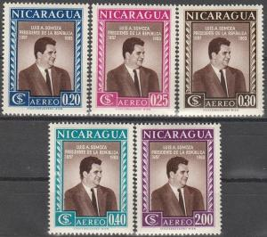Nicaragua #C387-91 MNH VF (V2828L)