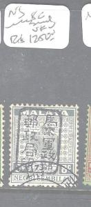 MALAYA JAPANESE OCCUPATION NEGRI SEMBILAN (P1408B) 8C UNISSUED   VFU  RARE!!!!