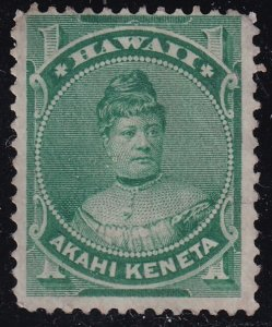 US HAWAII STAMP #42 1883-86  1C UNUSED NG STAMP