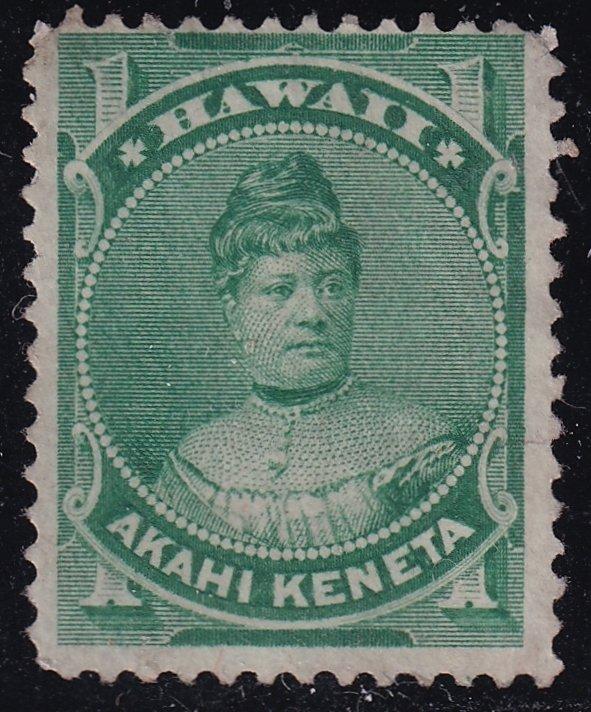 US HAWAII STAMP #42 1883-86  1C UNUSED NG STAMP