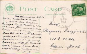 United States Virginia Cape Henry 1913 4b-bar  1902-1942  PC.