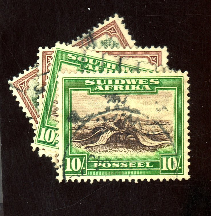 SOUTH WEST AFTICA #118a b 119a 119b USED F-VF Cat $21
